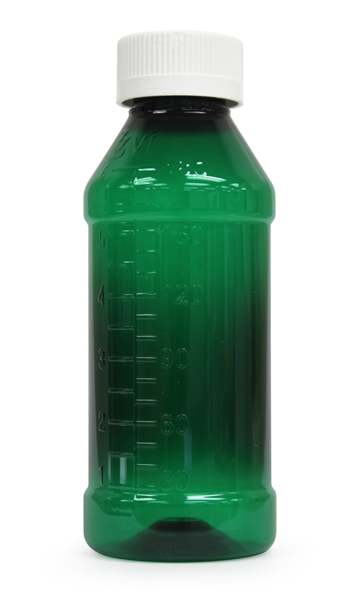 Round Liquid Bottle - Green